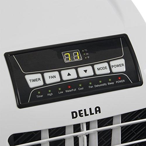 Della 8,000 BTU Portable Air Conditioner Cooling Fan ...