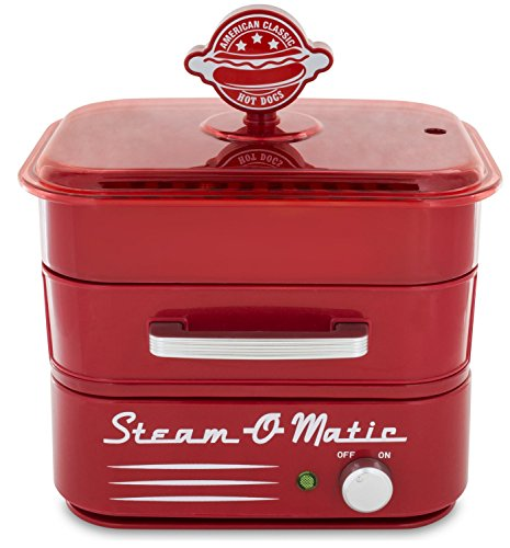 Smart Planet Hds‐1 Steam O Matic Hot Dog Steamer Red